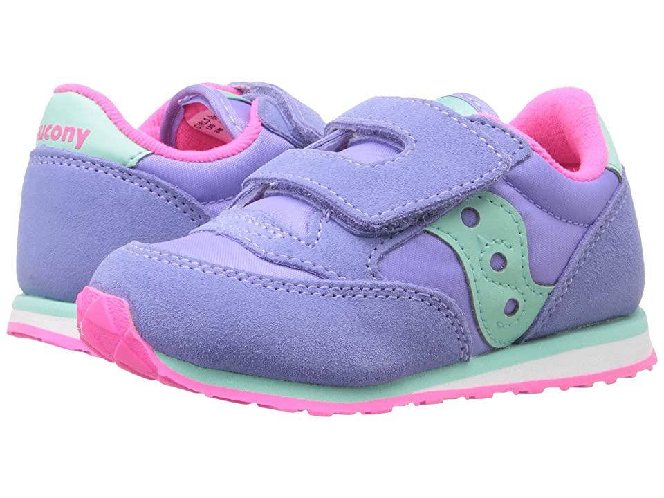 Saucony Kids Originals Jazz Hook Loop (Toddler/Little Kid) (Periwinkle) Girls Shoes
