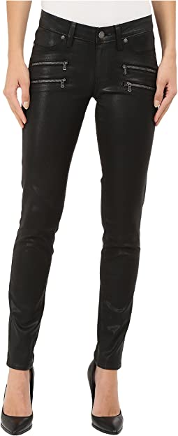 Paige Edgemont Ultra Skinny in Black Silk Coating