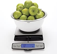 OXO 1128380 1128380 Good Grips Stainless Steel Food Scale with Pull Out Display, 22 Pound, Silver/Black