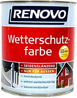 Renovo Wetterschutzfarbe Sepiabraun 8014, 750 ml