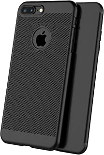 ff12cfe1666 iPhone 6/6s Plus Panal Matte Funda + Negro Protector de pantalla Cobertura  Completa,