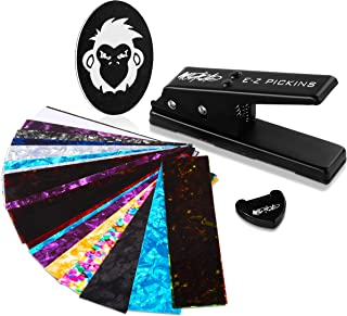 Mophead EZ Pickins Pick Punch Customizable Guitar Pick Making Kit with Pick Puncher, 20 Punch Cards, Shaping File and Pick...