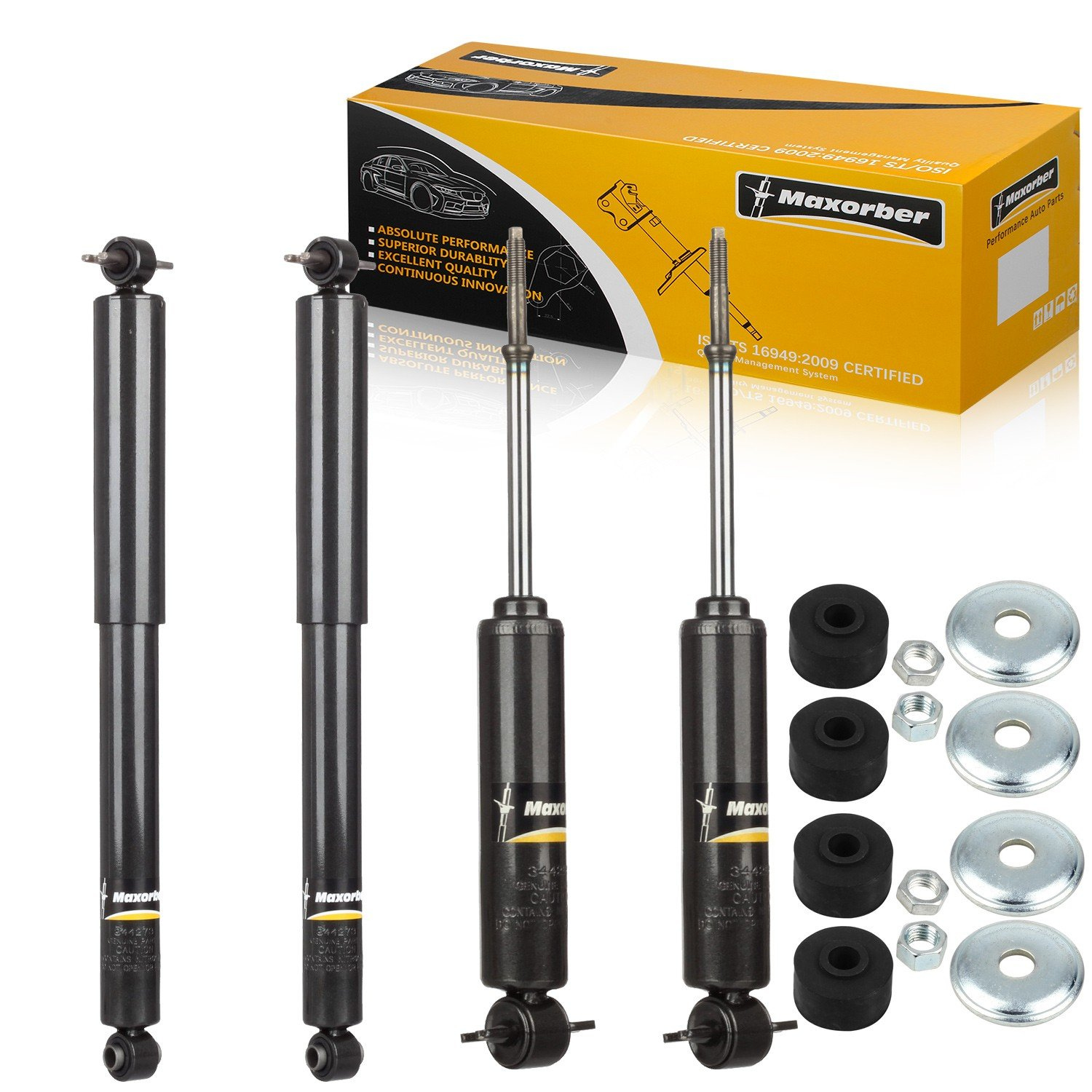 TUPARTS 4x Front Rear 344273 Struts Shocks Absorbers Fit for 1992-1999 Chevy C1500//C2500 Suburban,96-02 Chevy Express//GMC Savana 1500,95-00 Chevy Tahoe/&GMC Yukon,92-99 GMC C1500//GMC C2500 Suburban