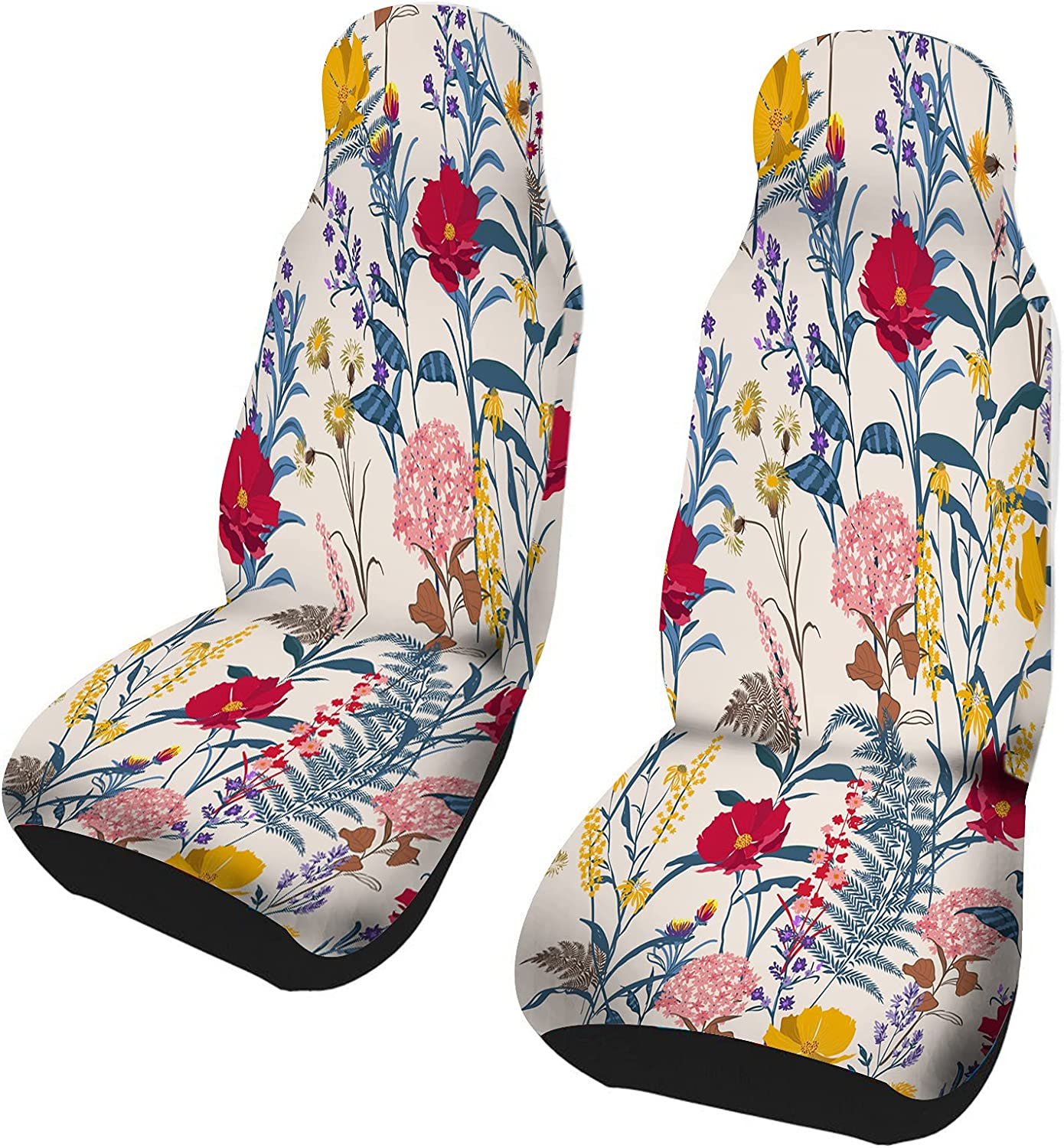 Bright Floral Pattern Same day shipping in The Inventory cleanup selling sale Many Kind Mot Flowers. of Botanical
