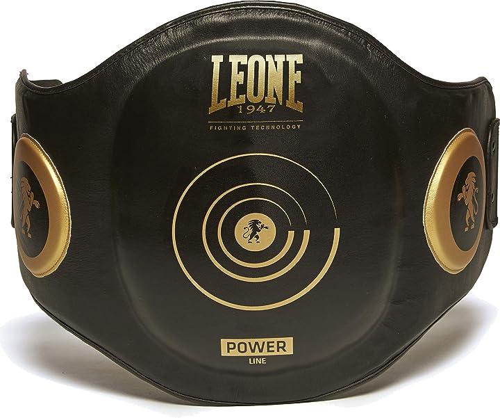 Protezione boxe - leone 1947 - cinturone power line protezione maestro, unisex – adulto, nero, one size GM440