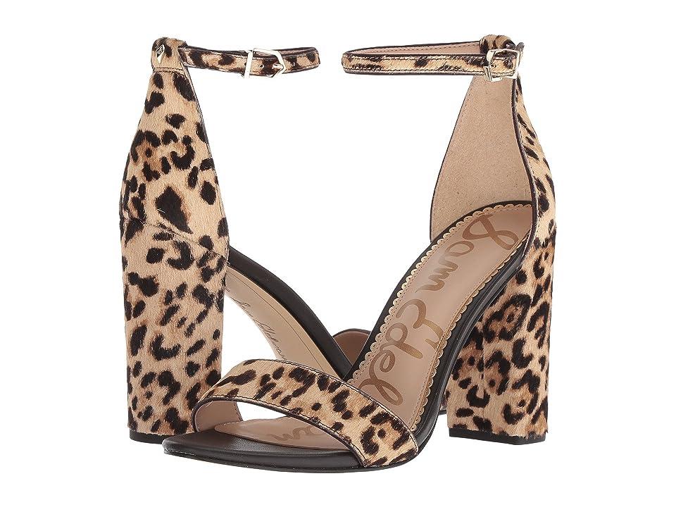 Sam Edelman Yaro Ankle Strap Sandal Heel (Sand Jungle Leopard Brahma Hair) Women
