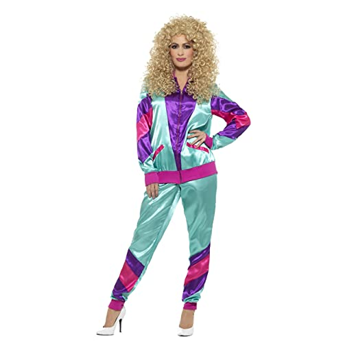 Smiffys 80s Height of Fashion Shell Suit Costume, Female