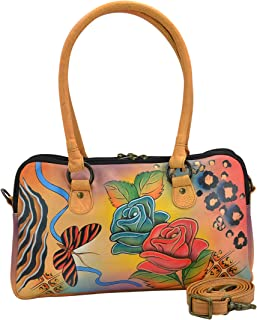 Anna by Anuschka Satchel Handbag   Genuine Leather