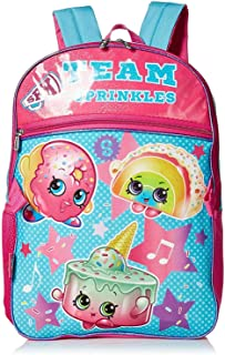 Shopkins Girls Backpack with Lunch, blue, One Size