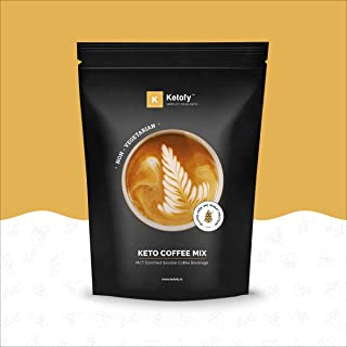 Ketofy - Keto Coffee Mix (100g) | MCT Enriched Instant Soluble Coffee Beverage