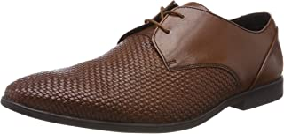 (7 UK, Brown (Tan Leather)) - Clarks Men's Bampton Weave Derbys
