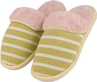 DRUNKEN Women Faux Fur Indoor Home Slipper Sandals