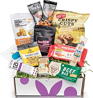 KETO Snack Box: Assortment of The Best Keto Snacks and treats - Low Carb (5G Net Carbs or less) Low Sugar (2G or less) High Fat Keto Friendly Snacks - Great Healthy Keto Care Package