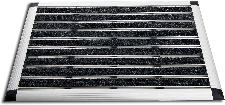 Alu Fußmatte Elegant Mat - effektiv effektiv effektiv reinigender Fußabtreter - Schmutzfangmatte in 2 Größen - 49x80cm, anthrazit B00827OAF4 e7f0b8