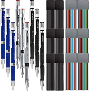 Best Jovitec 21 Pieces 2.0 mm Mechanical Pencil Set, 9 Pieces Automatic Pencils and 12 Cases Lead Refills (Color and Black) for Draft Drawing, Writing, Crafting, Art Sketching Review