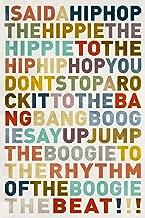 Unframed Typography Print Sugarhill Gang Rappers Delight Lyrics Ungerahmter Druck