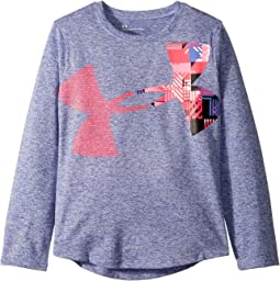 UA Interface Big Logo Long Sleeve Top (Little Kids)