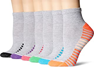 Hanes Women's 6-Pack Sport Cool Comfort Ankle, Grey Heather/Multi/Color Assortment, 5-9