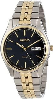Men's SNE034 Two-Tone Solar Bluish black Dial Watch