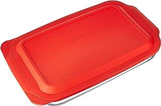 Pyrex 4 Qt. Oblong Baking Dish with Cover (4.8 Quart Outside Measurement)