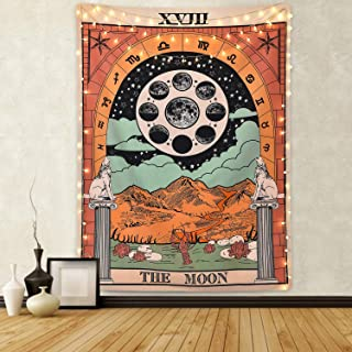 Sevenstars Tarot Tapestry The Moon Tapestry Medieval Europe Divination Tapestry Wall Hanging Mysterious TapestryforRoom