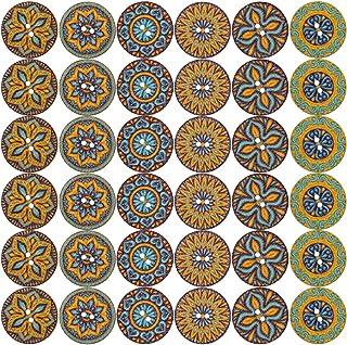 LEMESO 120 x Botones de Madera Estilísticos de Bohemia, Botones Vintage, Botones de Costura de 2 Agujeros 20mm de Ancho - ...