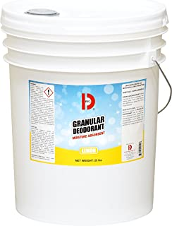 Big D 151 Granular Deodorant Moisture Absorbent, Lemon Fragrance, 25 lb Container - Absorbs Accidental Spills for Easy Clean-up - Ideal for use in Garbage dumpsters, Trash cans, kennels