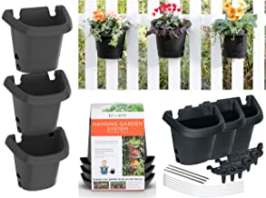 bloem 482124-1001 Hanging Garden Planter System, Black (Pack of 3)