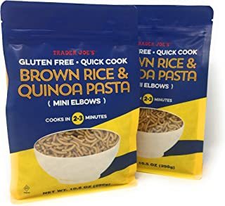 New - New Trader Joe's Brown Rice and Quinoa Pasta - Mini Elbows - Gluten Free - Quick Cook (2-3 Min) - NET WT 10.5 Oz - 2 PACK