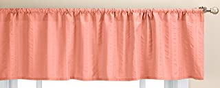 coral color window valance