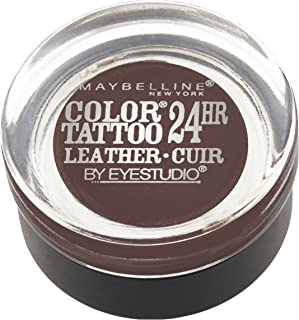 Maybelline New York Eyestudio ColorTattoo Metal 24HR Cream Gel Eyeshadow, Chocolate Suede, 0.14 Ounce (1 Count)