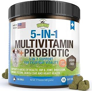 Sponsored Ad - Dog Multivitamin, Glucosamine Chondroitin MSM,Omega 3, Probiotics, Hemp - 120 Grain Free Chews, USA - Dog ...