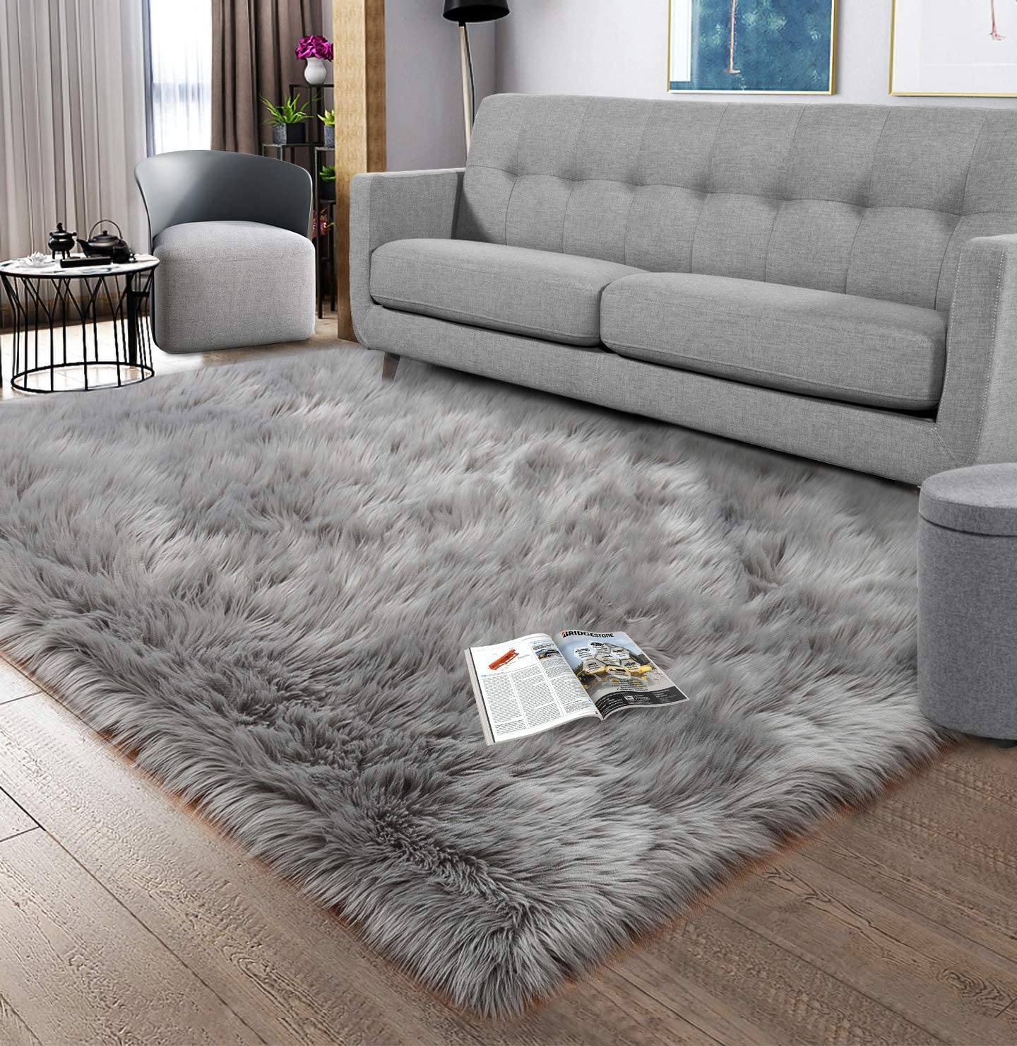 Noahas Luxury Fluffy Rugs Ranking TOP5 Bedroom Bedside Fur Furry Max 62% OFF Carpet Faux