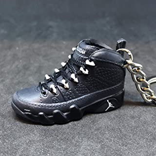 Air Jordan IX 9 Retro Anthracite Black Grey OG Sneakers Shoes 3D Keychain Figure 1:6
