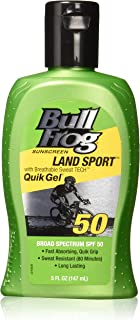 BullFrog Land Sport, Quik Gel Sunscreen SPF 50 (Pack of 2)