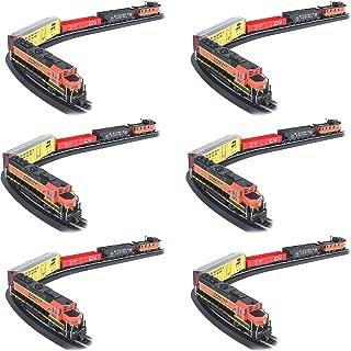 Bachmann Trains Rail Chief BNSF Freight Electric Train Set, HO Scale (6 Pack)