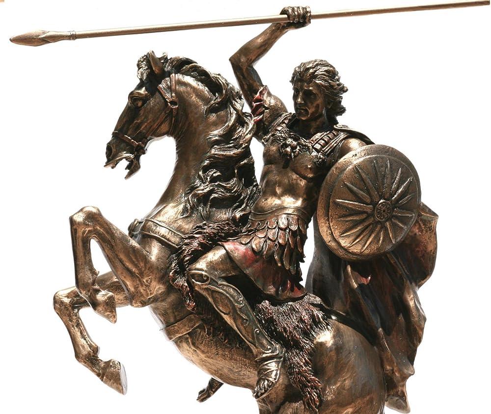 Statua di alessandro il grande su cavallo statua scultura bronzo