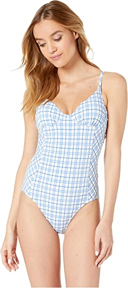 01c4a9585e8d9 Blue Check in Plaid. 6. Tory Burch Swimwear. Gingham One-Piece.  $180.60MSRP: $258.00. 4Rated ...