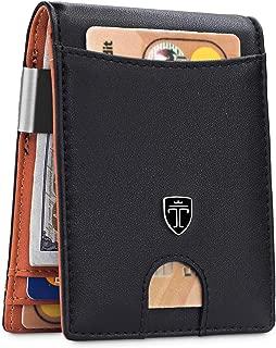 Money Clip Wallet HOUSTON Mens Wallet RFID Blocking Wallet - Minimalist Mini Slim Wallets Bifold for Men with Gift