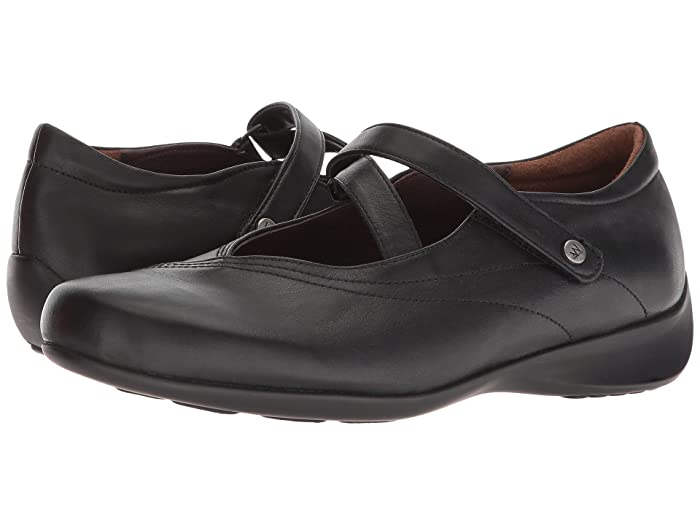 Wolky  Passion (Black Smooth Leather) Womens Flat Shoes