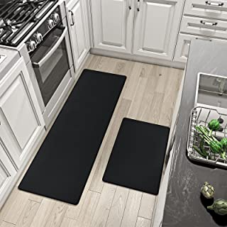 Anti Fatigue Kitchen Rug Sets, 2 Piece Non Skid Cushioned Comfort Standing Kitchen Mat Sets Waterproof and Oil Proof Floor...