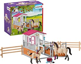 Schleich Horse Club Horse Stall with Arab Horses and Groom 26-piece Educational Playset..