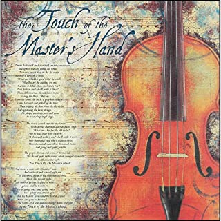 Dicksons Touch Of Master's Hand Sheet Music Violin 12 x 12 Wood Wall Sign Plaque