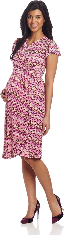 Everly Grey Women's Gifts Reservation Uma Flutter Wrap Maternity Sleeve Dress