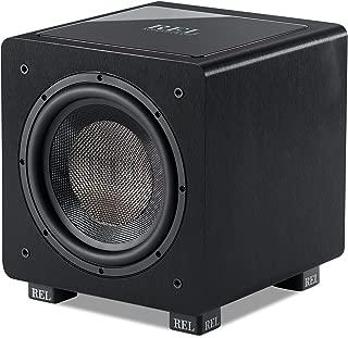 REL Acoustics HT/1003 Subwoofer, HT-Air Wireless Compatible, Line Grained Black Composite