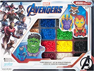 Perler PER8054346 Marvel Avengers Fuse Bead Kit, 4503pc, 10 Patterns, Multicolor