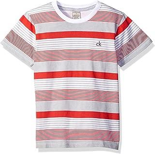 Calvin Klein Boys' Drive Crew Tee Shirt