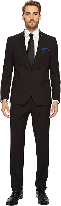 Black Pin Dot Slim Fit Suit