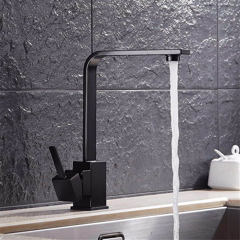Pengei Tap Basin Mixer Kitchen Sink Mixer Faucet Full Copper Black redatable