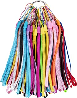 108 Pack 7 inch Lightweight Colorful Hand Wrist Lanyard Strap String, Short Hand Grip Lanyard for USB Flash Drives, Key, Keychain, ID Badge Holder, Name tag and Other Small Items-Assorted 12 Colors